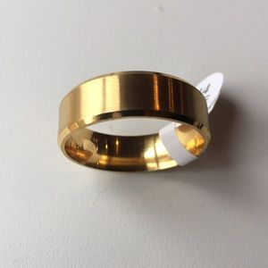 Other - 8MM stainless steel titanium18KGold filled size 14